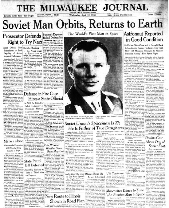yuri gagarin newspaper - photo #10